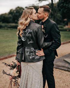18 Wedding Jackets For Every Bridal Style ❤ wedding jackets black leather with signature littlethingspics #weddingforward #wedding #bride
