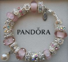 Authentic Pandora Bracelet with Pandora hinged by charmingelementz, $149.00: