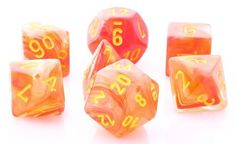 Role play your greatest adventures with Ghostly Glow Dice (Orange). This RPG dice set is...