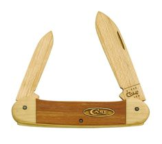 Case Cutlery CA12131C Case Wooden Canoe Knife Kit, Brown. Engineered for quality and durability. Made using the highest quality materials. Award winning manufacturing methods. Smooth wooden handles. Wooden blades. Wood spear and pen blade. Complete working knife kit. Officially licensed by case cutlery.