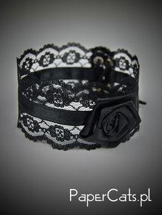 Black Choker Goth Burlesque Victorian Gothic Lolita. $10.00, via Etsy.