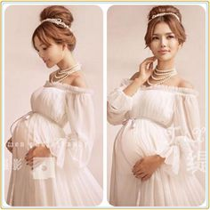 Department Name: Maternity Gender: Women Decoration: Lace Pattern Type: Solid Style: Casual Fabric Type: Lace Material: Polyester,Lace,Voile Dresses Length: Ankle-Length Silhouette: A-Line Collar: Sho