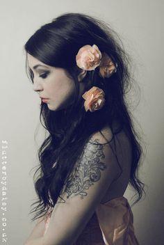 Ready to Ship  FLOWER GIRL Hair Clips in Peach by Flutterbydaisy, $16.00