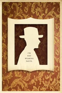 He speaks only the truth :-) | from Silhouette Masterpiece Theatre by Wilhelm Staehle