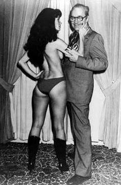 Forrest J Ackerman with Vampirella.