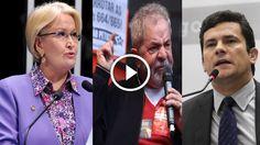 Política na Rede: Senadora massacra Lula após ele atacar o juiz Sergio Moro e a Polícia Federal; veja vídeo