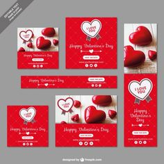Valentine Vectors, Photos and PSD files Valentine Banner, Valentines Day Date, Happy Valentines Day, Valentines Watercolor, Watercolor Cards, San Valentin Vector, Saint Valentine, Banner Template, Banner Design
