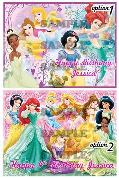 10 Disney Princess Edible Cake Topper by ItsEdible on Etsy, $8.99
