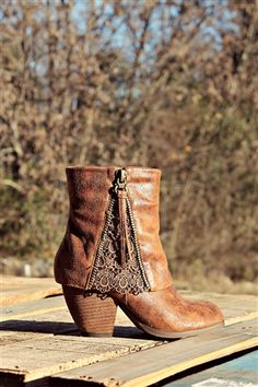 Lace Bootie, Southern Sass Bootie Brown