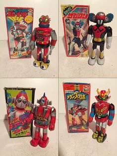 Lot of 16 Vintage Japanese Shogun Warrior Wind Up Toys WITH Boxes