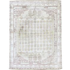 Antique Indian Cotton Agra Rug   From a unique collection of antique and modern indian rugs at https://www.1stdibs.com/furniture/rugs-carpets/indian-rugs/