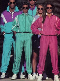windbreaker / fila / track suit / running / jogging / ad / pastel / 80s / pink / blue / seafoam