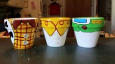 Toy story painted pots - sold