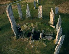 Callanish Standing Stones.  Isle of Lewis, Scotland.