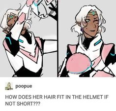 She somehow put it all in a bun the size of a sandwich, so it probably isn't impossible, but short hair would make it easier