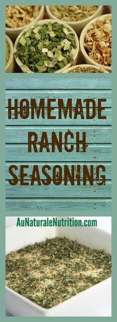 Easy homemade ranch seasoning with simple, healthy spices and no chemical additives! YUM!