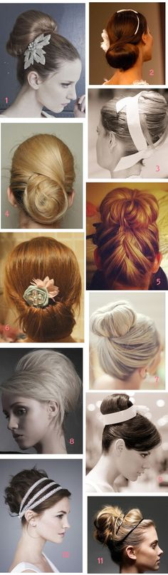 chignon mariée wedding hair bun updo #5, #10 and the hair piece from #1,  Go To www.likegossip.com to get more Gossip News!