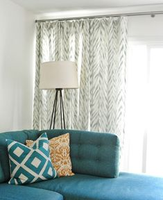 A Stylish Window Treatment For Sliding Doors (Centsational Girl)
