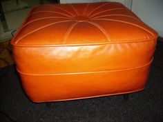 retro orange foot stool