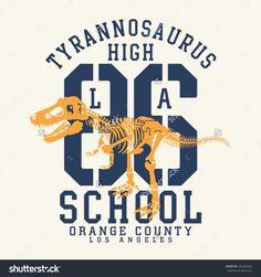 Athletic sport tyrannosaurus typography, t-shirt graphics, vectors