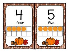 ***FREE*** This is a set of ten-frames posters 0-20 with a Fall or Autumn theme. They are formatted 2 to a page. They can also be used as large flashcards for small group lessons. I add FREE items often. Follow on TpT and Pinterest to get them as soon as they are listed.