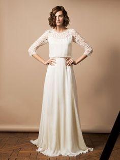 Robe de mariée Anguerran de Delphine Manivet : Robes de mariée : les perles des créateurs en 2014 - Journal des Femmes Mariage