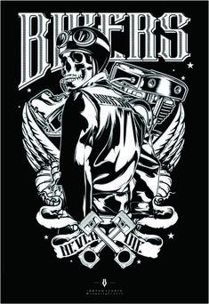 Biker t shirt Motorcycle Logo, Motorcycle Quotes, Rob Zombie Art, Cool Symbols, Harley Davidson Posters, Gangsta Girl, Biker Quotes, Oldschool, Garage Art