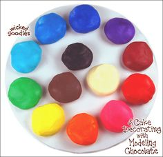 Modeling chocolate can be tinted using gel colors. It can be added while a batch is being made by stirring it in with the corn syrup or afterwards by kneading the color in by hand