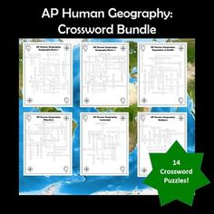 Ap Human Geography Vocabulary Crossword Puzzle Bundle Distance