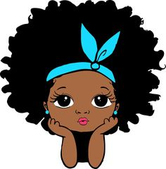 Peekaboo girl with puff afro ponytails svg Cute black African | Etsy