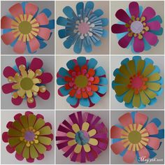 Suz Place: MORE PAPER FLOWER PLAYTIME TO SHARE