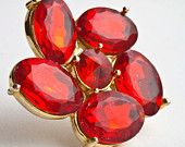 art inspired outfits: An Etsy treasury by bethberg that features our Fire Engine Red rhinestone brooch!