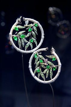 A beautiful pair of very precious earrings by another celebrity favorite – Anna Hu.