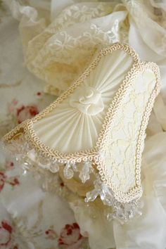 RESERVED FOR CHRISTINE - Gorgeous Vintage Silk and Lace Tiny Lampshade