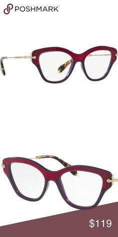 e28c3d7874 Miu Miu Rx Eyeglasses Cat Eye Violet Hot Pink Brand New. Never used