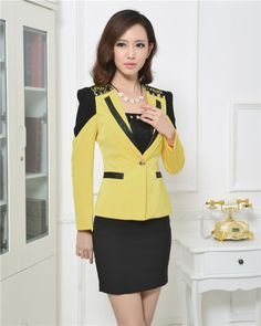 skirt suits for work - Pesquisa Google                                                                                                                                                                                 More