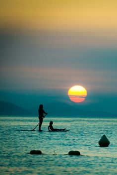 Sunset ~ i dream to go paddleboarding