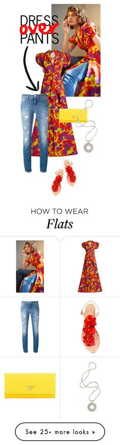"""""""Dress over pants"""" by missbeaheyvin on Polyvore featuring Rosie Assoulin, Dolce&Gabbana, Charlotte Olympia, Prada, shopstylealumni and missbeaheyvin"""