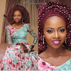 Gorgeous traditional bride @bossslady. Makeup by @bookielavida. Dress by @kathyanthony. Asooke by @aso_ebi_couture. #africansweetheartweddings #traditionalwedding #nigerianwedding