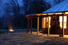 Glamping in Syria, Virginia - 2 bedroom, 2 bath yurts. Old town Culpeper with the quaint Davis Street shopping area is 20 minutes away and Charlottesville is about a half hour drive. Virginia Camping, Yurt Living, Virginia Is For Lovers, Arch Interior, Luxury Cabin, Mountain Living, Round House, Glamping, Glam Camping