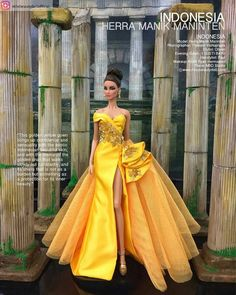 Keong Mas ku✨ Gaun syantik dg filosofi puteri candra kirana alias keong mas design by : @i_gusti_bayu #Repost from @missbeautydollofficial…