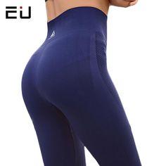ec2a734852 EU Womens Yoga Pants High Elasticity High Waist Yoga Leggings for Women Hip Up  Fitness Sport