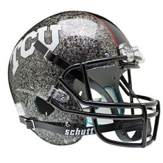 #Texas #Christian #Horned #Frogs NCAA Replica Air XP Full Size Helmet (Alternate Silver w/At Slate 4)