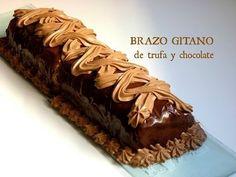 Brazo Gitano de Trufa y Chocolate - Recetas de Navidad