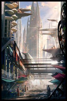 Mantis City, Raphael Lacoste on ArtStation at https://www.artstation.com/artwork/XPnmy
