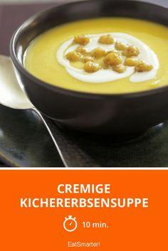 Cremige Kichererbsensuppe - smarter - Zeit: 10 Min. | eatsmarter.de
