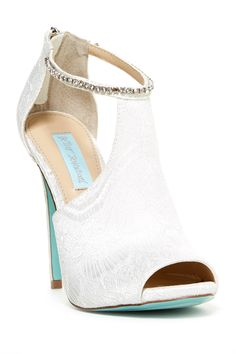 Betsey Johnson Date Peep Toe Pump #WeddingAccessories #WeddingShoes