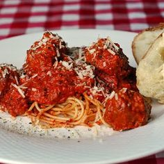 Moose meatballs and spagetti, exotic and delic...