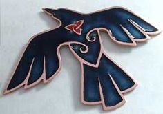 IMAGO CORVI - Galleries - Brooches - Celtic Crow
