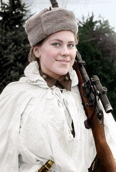 Russian sniper Roza Shanina #WW2